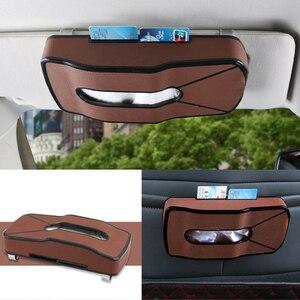 Image 2 - Criativo esportes forma do carro couro tecido bbox sun visor titular assento de volta pendurado pater toalha caso saco de armazenamento cartão de visita clipe