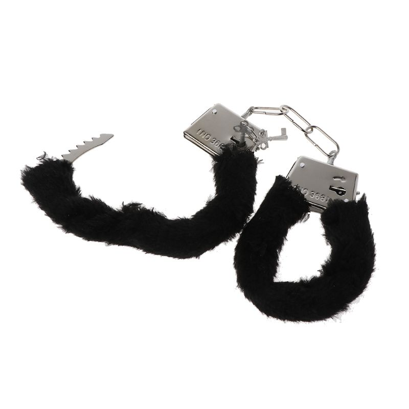Soft Metal Sexy Furry Fuzzy Handcuffs Stylish Adult Hen Night Party Game Gift RXJF