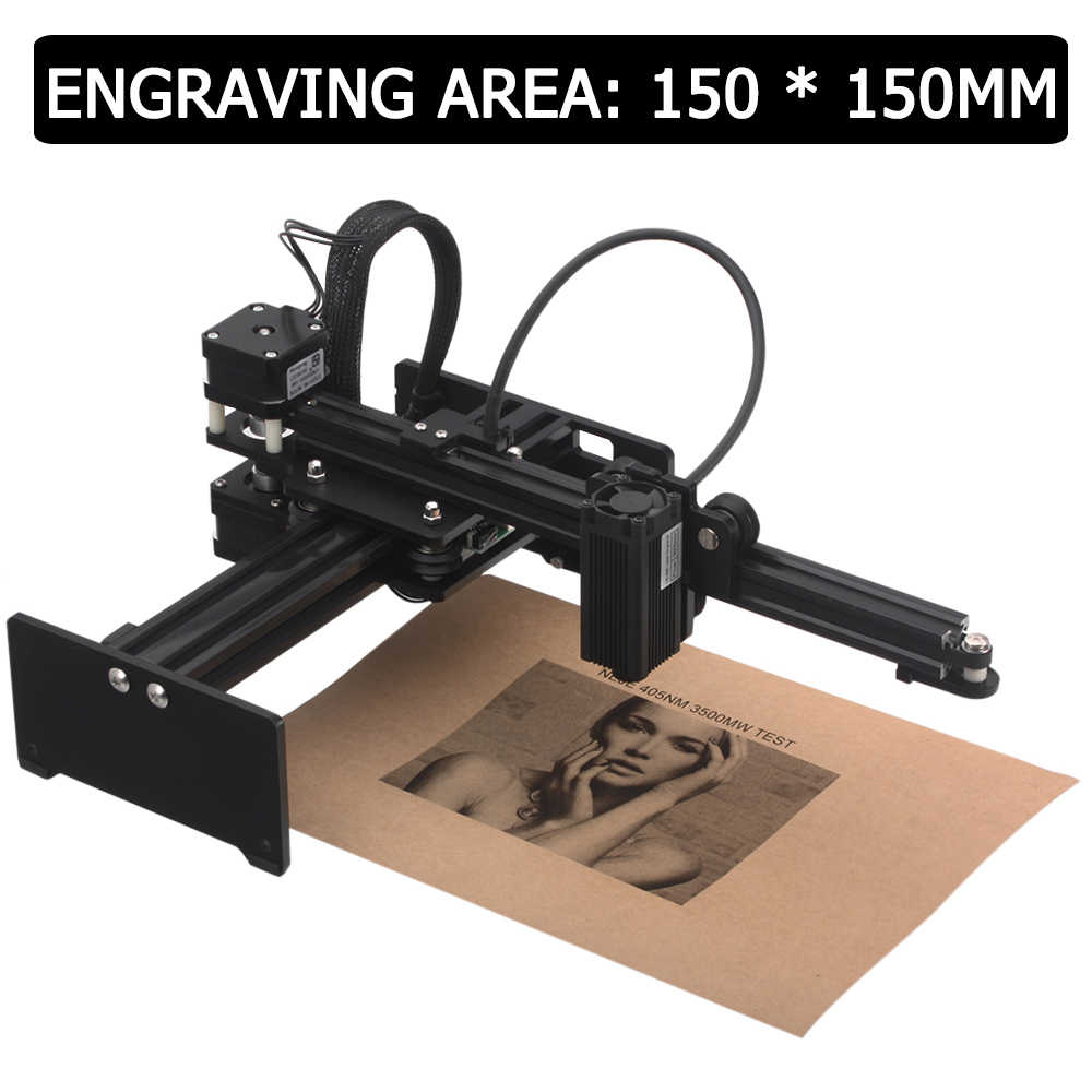 Portable Mini CNC 7000mW Desktop Laser Engraver Carving Machine DIY Laser Cutter Printer Wood Router Kit with Protective Glasses