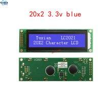 2002 3.3V الأحرف وحدة عرض إل سي دي الأزرق LC2021 HD44780 الغار العلامة التجارية جديد LC2021 بدلا WH2002A