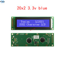 2002 3.3V โมดูลจอแสดงผล LCD Blue LC2021 HD44780 Laurel