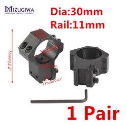 Montura de doble tornillo para Rifle, Base de aire de riel Picatinny de 11mm, 1 par