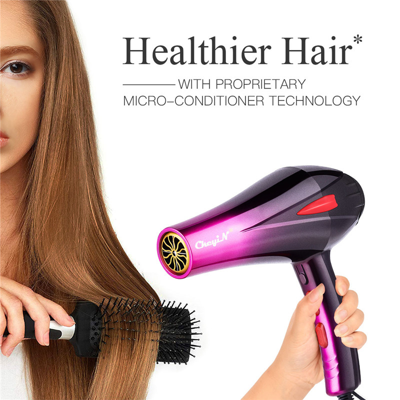 Professional 4000W Powerful Hair Dryer Fast Styling Blow Dryer Hot And Cold Adjustment Air Dryer Nozzle For Barber Salon Tools 2