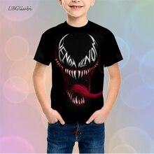 LBG new 3D printing Marvel hero venom children's T-shirt fashion youth T-shirt casual boy T-shirt boy girl Sweatshirt baby shirt цена