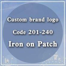 Patchs sensibles à la chaleur, marque personnalisée, Code Logo 201 – 240, Badge lumineux, accessoire, transfert de chaleur