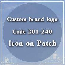 Custom Brand Logo Code 201-240 Heat-Sensitive Patches Heat-Sensitive Patches Cap Bright Badge Accessory Patch Heat Transfer