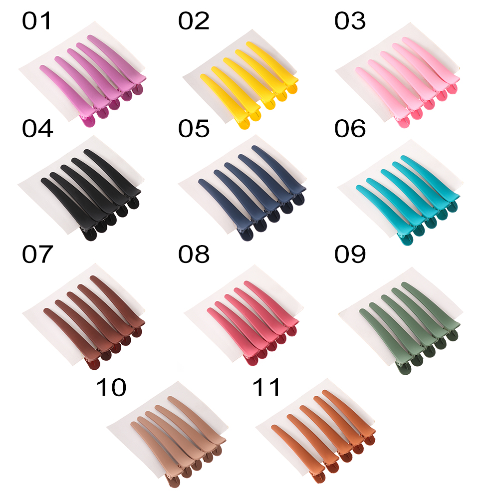 5 Pcs Fashion Colorful Clip Duck Mouth Hair Clip Women Girls Plastic Duckbill Hairpin Hair Accessories Hairdressing Tip Clip