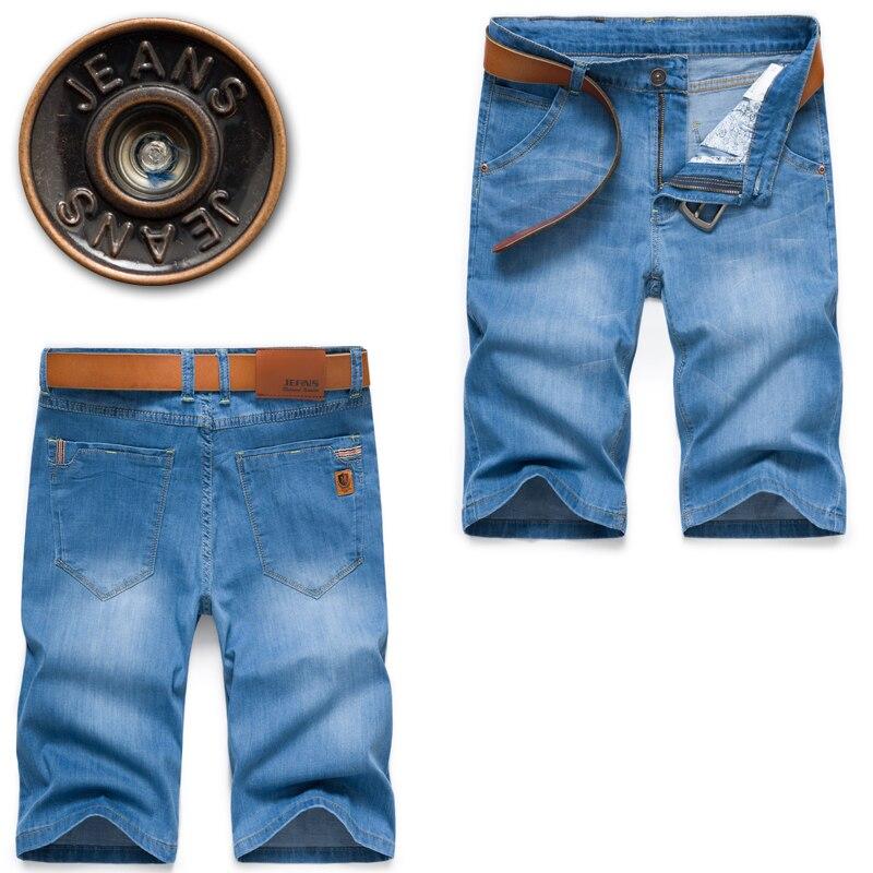 Summer Comfortable Straight Jeans Men's Clothing , Stylish Washed Men's Stretch Men Denim Shorts , 40 38 Men Cotton Jean Shorts