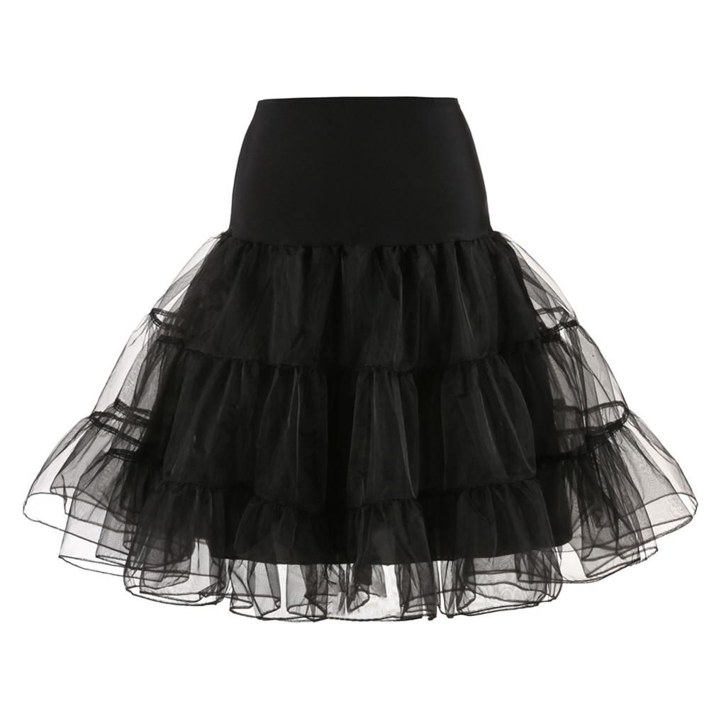 Puffy Short Organza Women Bridal Petticoat For Wedding Evening Underskirt Short Skirt Rockabilly Tutu