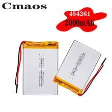 1/2/4 шт. 3,7 в литий-полимерная батарея 454261 MP3 MP4 MP5 GPS Bluetooth маленькие стерео перезаряжаемые батареи 2000 мач