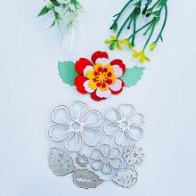 Красивые листья с цветочная комбинация металлическая форма diy