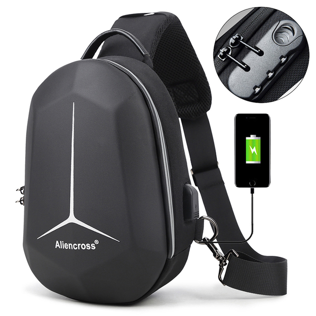 New Anti-theft lock Crossbody Bag for USB charging travel Men Shoulder bag High-quality Messenger Bags Male Waterproof Chest Bag 1