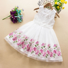 Girls Dress 2020 New Summer Brand Girls Clothes Lace And Ball Design Baby Girls Dress Party Dress For 3-8 Years Infant Dresses new lace girls dress retro embroidery long sleeve christmas clothes girls party dress teenagers princess dress 3 13 years ca341