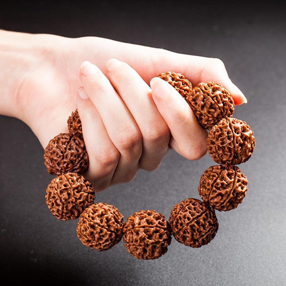 Модные женские браслеты бусы из плодов рудракши, мужские религиозные Будды, медитации, браслеты из рудракши Amulets