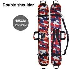 Лыжная сумка Толстая Водостойкая Защитная крышка переноска сумки с одним/двойным плечевым ремнем для сноубординга