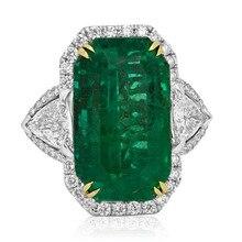 Изысканный Зеленый Самоцветы Обручальное Кольцо Роскошные Серебряные Кристалл Обручальное Серьги Рождественский Подарок