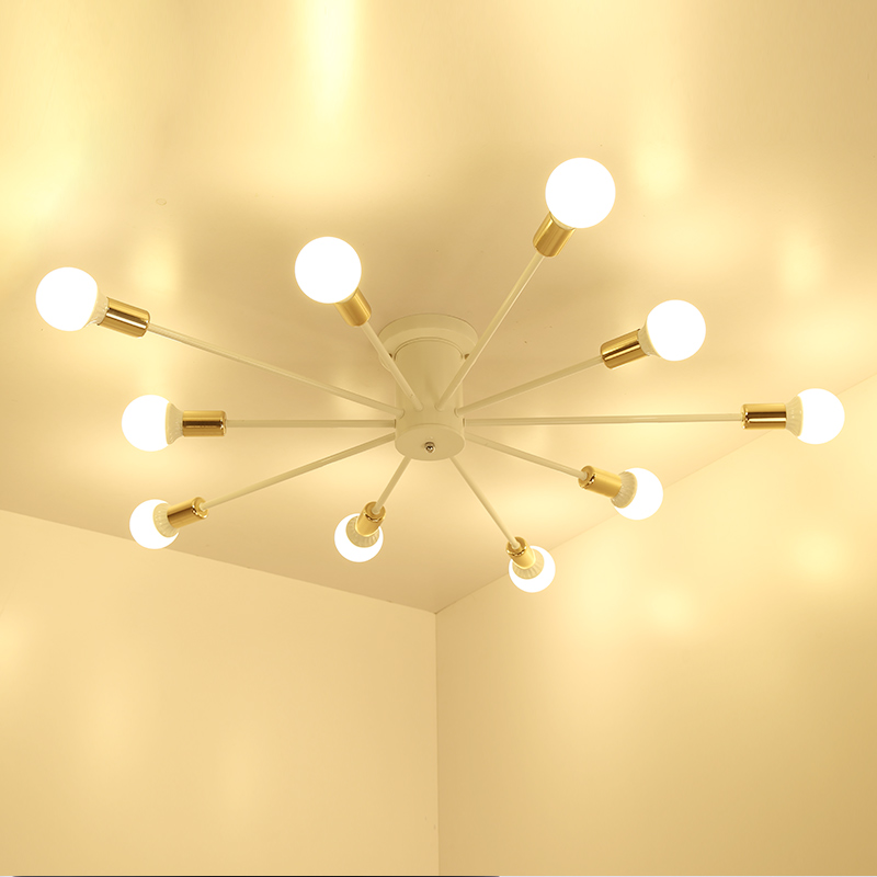 Moderne nordique noir lustres blanc lustre éclairage 6 lumières lustre intérieur éclairage luminaires non inclus ampoules