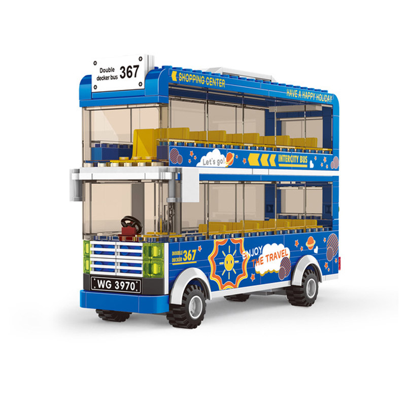 2020 new blocks duplos bus model city bus toy legINGlys friends bus 2