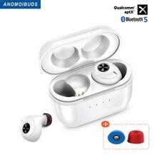 Earphones Qualcomm Aptx Noise-Cancellation Anomoibuds Qcc010 Tws Bluetooth Wireless Earbuds