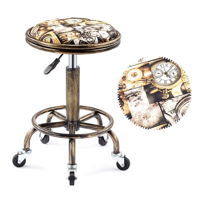 Beautifying stool lifting rotary hairdressing master stool anti-explosion corridor pulley round stool for hairdressing 3
