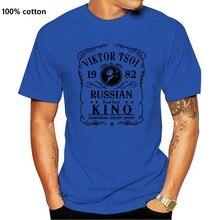 Rosyjski Kino zespół T koszula mężczyzna z krótkim rękawem Rock T koszula Vintage Viktor Tsoi koszulka z nadrukiem Merch letnia koszulka