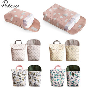 2019 Diapering Toilet Training Packages Mini Waterproof Wet Dry Bag for Baby Infant Cloth Diaper Nappy Pouch Reusable