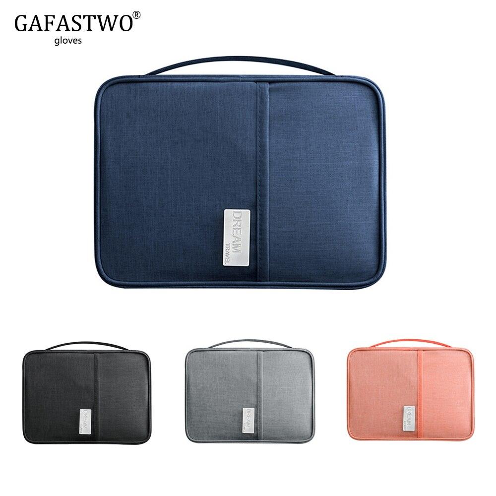 Waterproof Handbag Passport Holder Travel Wallet Multi-Function Credit Card Package Multi-Card Storage Pack Zipper Organizer