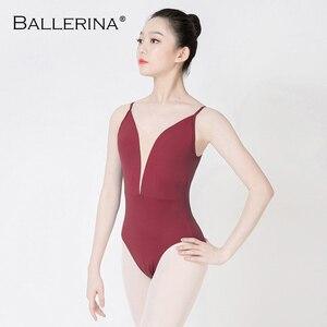 Image 5 - Ballerina ballet practice leotard for Women Dance Costume girls Sling gymnastics Adulto Adjustable shoulder strap Leotards 5085