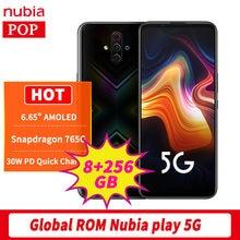 Global Rom Nubia Jogar 5G 8GB 256GB Do Telefone Móvel 6.65
