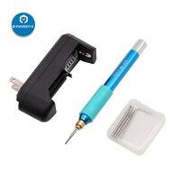 Mini polimento caneta de moagem para o reparo do iphone placa-mãe bga moagem reparação elétrica polimento caneta cpu recuperação kit reparo