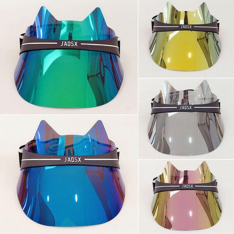 Brand New Fashion Summer Brand Design Visor Sun Hat Golf Tennis Beach Unisex Cap Summer UV Protection Transparent Visors