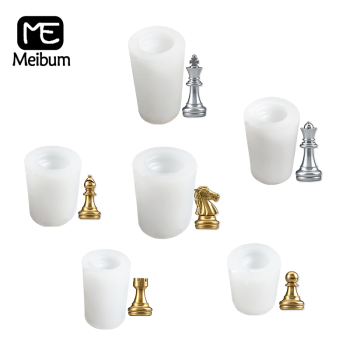 6 Types Silicone Cake Molds International Chess Fondant Baking Tools King Queen Bishop Pawn Knight Resin Mould Polymer Clay Pan image
