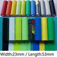 20 piezas-batería Lipo n. ° 5, AA Tubo termorretráctil de PVC, ancho de 23mm x 53mm de longitud, película de aislamiento, envoltura, funda protectora, paquete de Cable de alambre