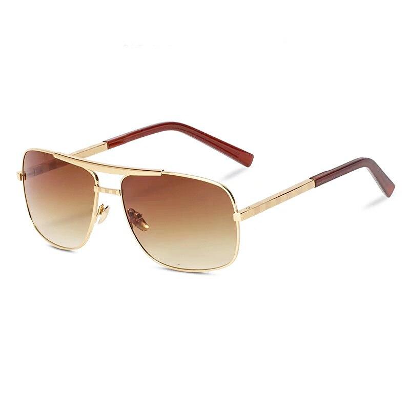 Винтажные Солнцезащитные очки пилота для мужчин и женщин, фирменный дизайн, солнцезащитные очки для вождения, мужские ретро Квадратные