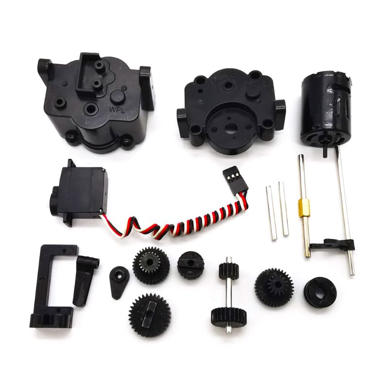 1 Set Assembled <font><b>Metal</b></font> Gears with 370 Motor Speed Change Gear Box for <font><b>WPL</b></font> B1 <font><b>B24</b></font> B16 B36 C24 1/16 4WD 6WD RC Car image