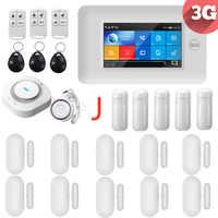 3G IOS Android 433MHz Touch farbe Bildschirm Wireless WIFI GPRS RFID karte Smart Home Einbrecher Sicherheit Alarm Systeme mit zubehör
