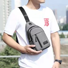 2021 new men's chest bag fashion leisure cross-bag sports travel chest bag one shoulder bag small bag nylon cloth