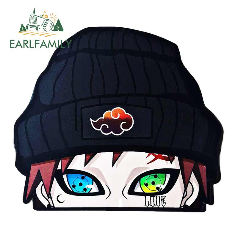 EARLFAMILY 13cm X 11.5cm For  Gaara Peeker Anime Peeking Motorcycle Car Bumper Window Decal Vinyl Car Sticker Graffiti Stickers