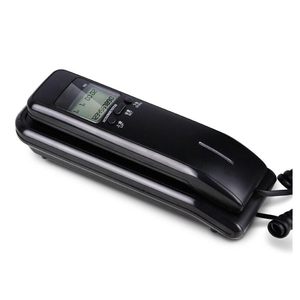 Image 5 - Trimline Corded Phone with Dual LCD Display, Caller ID, Dual Systems, Adjustable Ringtone Volume Desk Wall Telephone for Home
