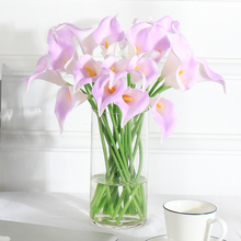 цена на 6Pcs  Calla  Artificial Flowers  Branch  Latex  Flower Decoration  Wedding  Home Decorating