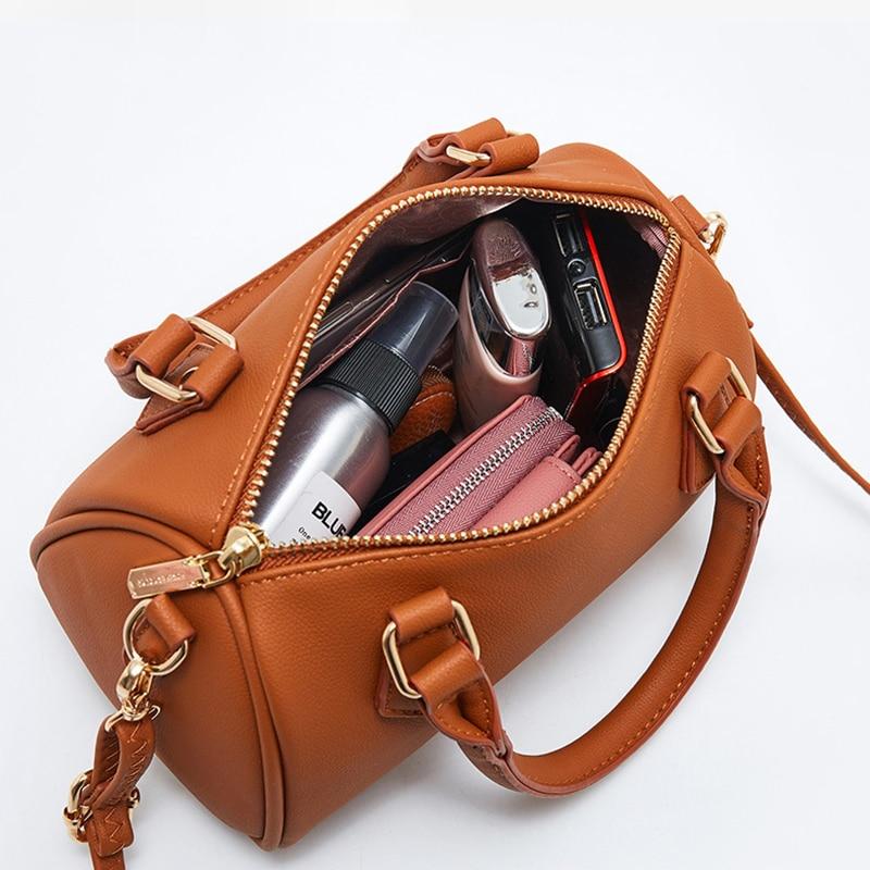 Projektant marki Mini bostońska torebka damska skórzana