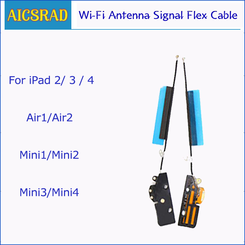 New Wi-Fi Antenna Signal Flex Cable For IPad 2 3 4 Air 1 Air 2 Mini 1 2 3 4 Bluetooth Wireless Wifi Ribbon Replacement