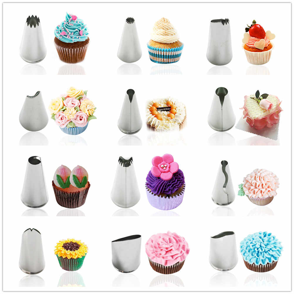 1pc Pastry Tips Icing Piping Nozzles Ice Cream Tool Baking Mold Cake Decorating