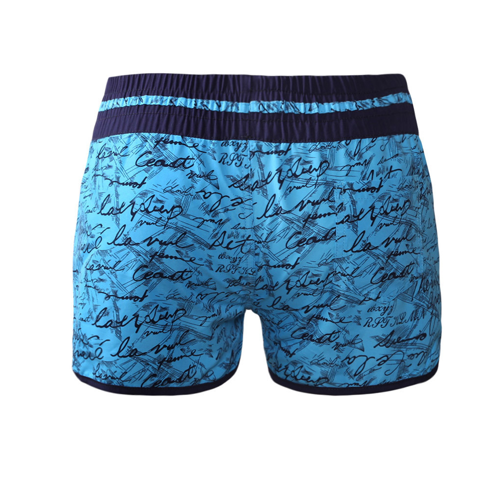 Pa Meng Europe And America Summer Day Holiday Unique Printed Letter Surfing Beach Casual Versatile Boxer Shorts 410278