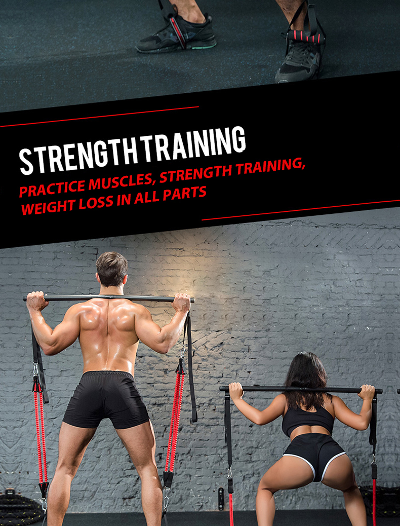 Clothing - Body Workout Trainer Bar with Resistance Bands