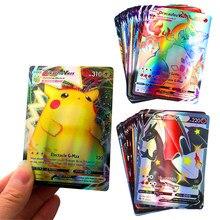 Nouvelle Collection de cartes pokémon françaises pour enfants, série Pikachued 200GX 30VMAX V, jeu de Collection