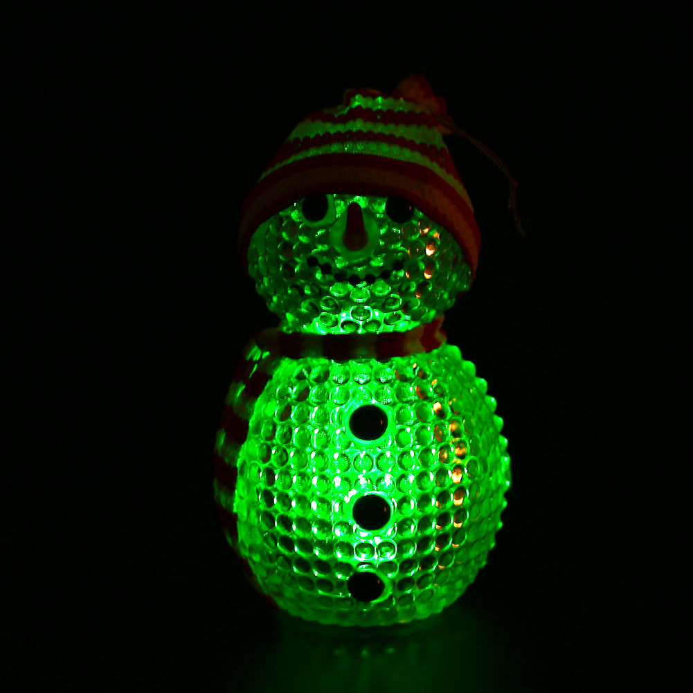 Night Light LED Snowman ABS Flashing Christmas New Year Gift Cute New Arrvials