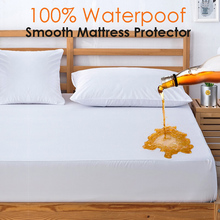 All size Smooth Waterproof Mattress Cover Anti mite Soft Fitted Sheet With Elastic Band Air Permeable