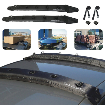 Car Roof Top Cross Bars Strap Universal 2 Pack Easily Installation Attached Automatic Inflatable Personal Car Elements image
