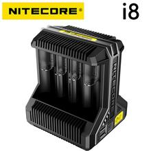 "Nitecore i8 אינטליגנטי מטען 8 חריצים סה""כ 4A פלט חכם מטען עבור IMR18650 16340 10440 AA AAA 14500 26650 ו USB מכשיר"
